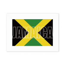 Jamaica Country Flag Name Photo Mount Frame Picture Art Painting Desktop 5x7 inch