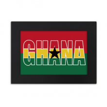 Ghana Country Flag Name Desktop Photo Frame Ornaments Picture Art Painting Gift