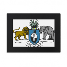 Swaziland Africa National Emblem Desktop Photo Frame Ornaments Picture Art Painting Gift