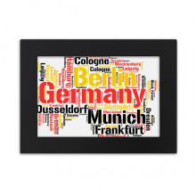 Germany City Name Map Style Illustration Desktop Photo Frame Ornaments Picture Art Painting Gift