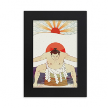 Mount  Japanese Ukiyo-e Sumo Desktop Photo Frame Picture Display Art Painting Exhibit