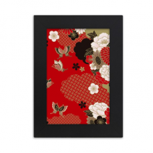 Butterfly Flower Red Sakura Desktop Photo Frame Picture Display Art Painting Exhibit