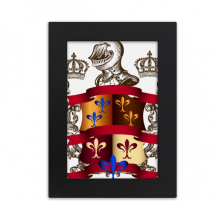 Armor Emblem Medieval Knights of Europe Desktop Photo Frame Picture Black Art Painting 5x7 inch