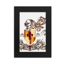 Medieval Knights of Europe Armor Emblem Desktop Photo Frame Picture Black Art Painting 5x7 inch