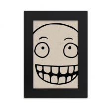 Silly Smile Black Happy Pattern Desktop Photo Frame Picture Black Art Painting 5x7 inch