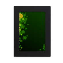 Clover Gold Ireland St.Patrick's Day Desktop Photo Frame Picture Black Art Painting 5x7 inch