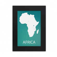 Africa Continent Outline Silhouette Map Desktop Photo Frame Picture Black Art Painting 5x7 inch
