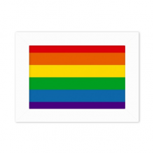 Rainbow Gay Lesbian Bisexuals LGBT Desktop Photo Frame White Picture Art Painting 5x7 inch