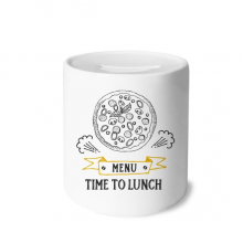 Time To Lunch Pizza Foods Money Box Saving Banks Ceramic Coin Case Kids Adults