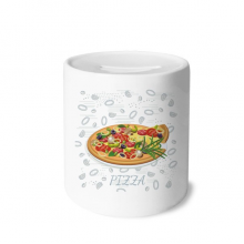 Onion Pizza Italy Tomato Foods Money Box Saving Banks Ceramic Coin Case Kids Adults