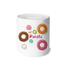 Doughnut Dessert Sweet Food Pattern Money Box Ceramic Coin Case Piggy Bank Gift