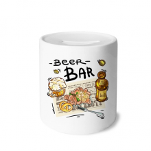 Beer Bar Gourmet Bread France Money Box Ceramic Coin Case Piggy Bank Gift