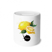 Lemon Fruit Tasty Healthy Watercolor Money Box Ceramic Coin Case Piggy Bank Gift