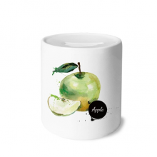Apple Watercolour Fruit Tasty Health Money Box Ceramic Coin Case Piggy Bank Gift