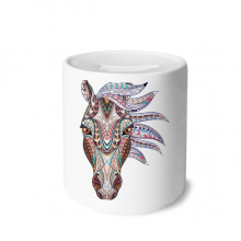 Mosaic Style Colorful Horse Design Money Box Saving Banks Ceramic Coin Case Kids Adults