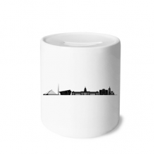 Dublin Landmark Building Skylines Ireland Money Box Saving Banks Ceramic Coin Case Kids Adults