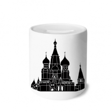 Russia Saint Petersburg Silhouette Money Box Saving Banks Ceramic Coin Case Kids Adults