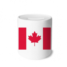 Canada National Flag North America Country Money Box Saving Banks Ceramic Coin Case Kids Adults