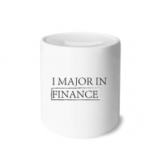 Quote I Major In Finance Money Box Saving Banks Ceramic Coin Case Kids Adults