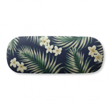 Tropical White Drawing Art Plant Glasses Case Eyeglasses Hard Shell Storage Spectacle Box