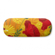 Canvas Flowers Plant Painting Corn  Glasses Case Eyeglasses Hard Shell Storage Spectacle Box
