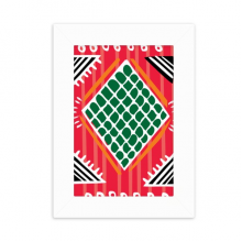 Red Green Line Mexico Totems Ancient Civilization Desktop Photo Frame Picture Display Decoration Art Painting