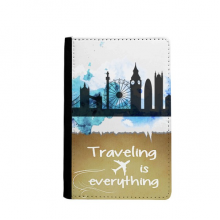 London Tower Bridge Silhouette England Traveling quato Passport Holder Travel Wallet Cover Case Card Purse