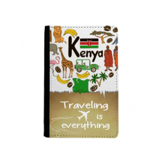 Kenya Love Heart Landscap National Flag Traveling quato Passport Holder Travel Wallet Cover Case Card Purse