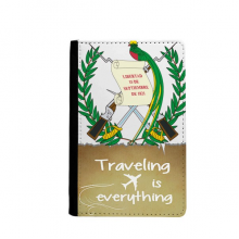 Guatemala National Emblem Country Traveling quato Passport Holder Travel Wallet Cover Case Card Purse
