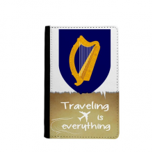 Ireland Europe National Emblem Traveling quato Passport Holder Travel Wallet Cover Case Card Purse