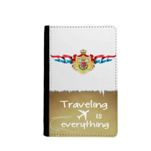Luxembourg Flag National Emblem Traveling quato Passport Holder Travel Wallet Cover Case Card Purse