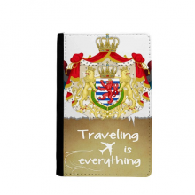 Luxembourg National Emblem Country Symbol Traveling quato Passport Holder Travel Wallet Cover Case Card Purse