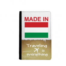 Made In Hungary Country Love Traveling quato Passport Holder Travel Wallet Cover Case Card Purse