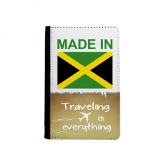Made In Jamaica Country Love Traveling quato Passport Holder Travel Wallet Cover Case Card Purse
