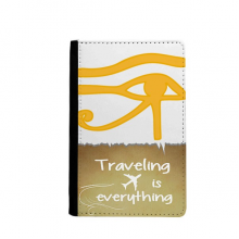 Ancient Egypt Eye Decoration Pattern Traveling quato Passport Holder Travel Wallet Cover Case Card Purse