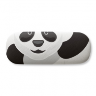 Chinese Panda Bamboo Traditional Art Pattern Glasses Case Eyeglasses Clam Shell Holder Storage Box