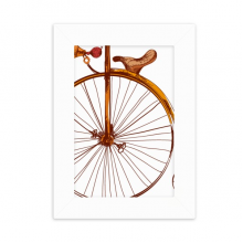 Old Fashioned Bicycle High Wheeler Britain Desktop Photo Frame Picture White Art Painting 5x7 inch