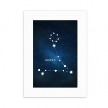 Pisces Constellation Zodiac Sign Desktop Photo Frame Picture White Art Painting 5x7 inch