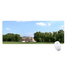 Green Planting Park Photography Mousepad Large Stitched Edges Mat Extended Game Office