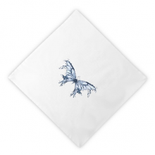 Blue Butterfly Kite Dinner Napkins Lunch White Reusable Cloth 2pcs