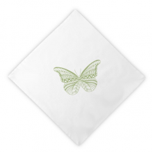 Green Butterfly Kite Dinner Napkins Lunch White Reusable Cloth 2pcs