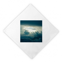 Grey Sky White Clouds Dinner Napkins Lunch White Reusable Cloth 2pcs