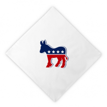 America Donkey Emblem Democratic Party Dinner Napkins Lunch White Reusable Cloth 2pcs