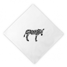 Black Animal Pinto Silhouette Natural Dinner Napkins Lunch White Reusable Cloth 2pcs