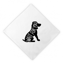 Black Dog Animal Silhouette Natural Dinner Napkins Lunch White Reusable Cloth 2pcs