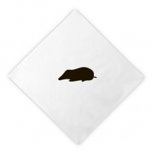 Black Mole Animal Portrayal Dinner Napkins Lunch White Reusable Cloth 2pcs
