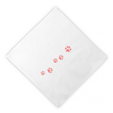 Cat Meow Animal Pink Footprint Art Paw Print Dinner Napkins Lunch White Reusable Cloth 2pcs