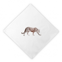 Cheetah Brown Animal Dinner Napkins Lunch White Reusable Cloth 2pcs