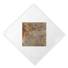 Grey Marble Miscellaneous Illustration Pattern Dinner Napkins Lunch White Reusable Cloth 2pcs