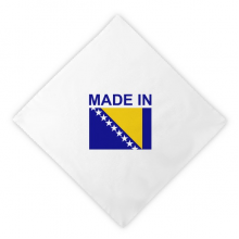 Made In Bosnia Herzegovina Country Dinner Napkins Lunch White Reusable Cloth 2pcs